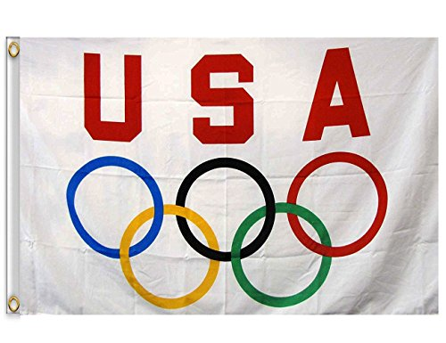 DANF 3' x 5' USA Olympics Game Flag Banner Durable Polyester