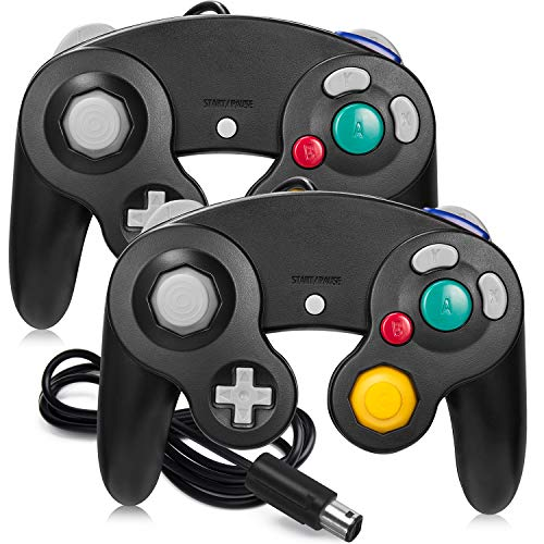 Gamecube Controller, iNNEXT 2 Packs Classic Wired Controllers Compatible with Wii Nintendo Gamecube - Black