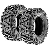 Pair of 2 SunF A033 Power.I AT 25x10-11 ATV UTV Off-Road Tires, All-Terrain, 6 PR, Tubeless