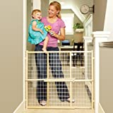 Cheap North States Extra-Wide Wire Mesh Adjustable Wood Baby/Child & Pet Gate | 4615