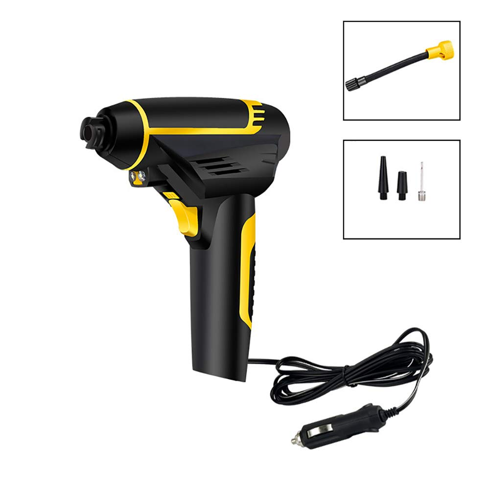 Cordless Tire Inflator, Portable Tire Hand Held Air Compressor Vehicle-Mounted Air Pump Emergency,LED Light