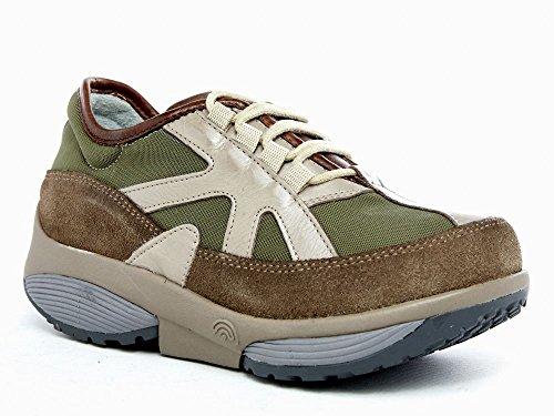 Xsensible Stretchwalker - Zapatos de cordones de Piel para mujer verde verde 38