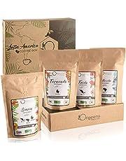 ☘ BIOLOGISCHE GEMALEN KOFFIE | Proefpakket koffie, 4x250g, Ambachtelijk Gebrand | BIO gemalen koffie Arabica | Geschenkidee