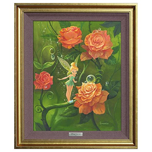 'Tinker Bell's Garden' Framed Limited Edition Canvas by Michael Humphries from the Disney Silver Series; with COA Tinker Bell's Garden Framed Limited Edition Canvas by Michael Humphries from the Disney Silver Series; with COA