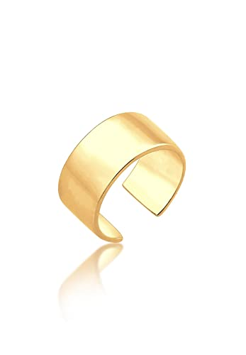 Elli Damen Echtschmuck Ohrringe Basic Single Earcuff Trend in 925 Sterling Silber  vergoldet 892f03db3c