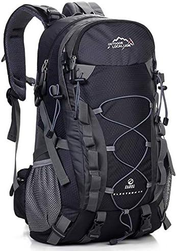 サイクリングバックパック ハイキング、サイクリング、キャンプ、旅行用40L防水軽量バックパック (Color : Black, Size : 50*32*15cm)