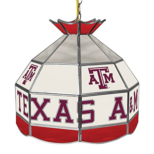 University Glass 16 Stained (NCAA Texas A&M University Tiffany Gameroom Lamp, 16
