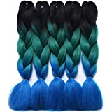 Braiding Hair Extensions Japanese Fiber 24 Inch 100G/Pc Gray/Purple/Blue/Red Crochet Braids Hair T1B/33/27 24inches