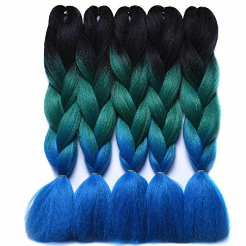 Braiding Hair Extensions Japanese Fiber 24 Inch 100G/Pc Gray/Purple/Blue/Red Crochet Braids Hair T1B/33/27 24inches supplier