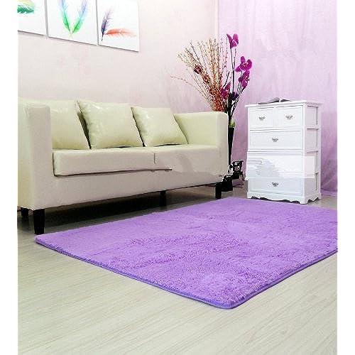 diaidi super soft modern shag area rugs purple living room carpet bedroom rug washable rugs solid home decorator floor rug and carpets 4 feet by 5 feet