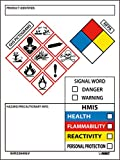 Nmc Ghs2264Alv Secondary Container Labels, Œproduct Identifier:, Hazard/Precautionary Info, Single Word, Hmis, 4 x 3, Adhesive Vinyl, Blue/Black/Red/Yellow On White (Pack Of 250)