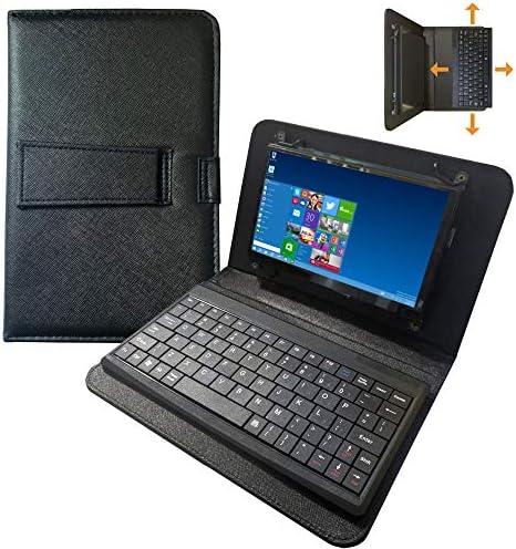 Für Raspberry Pi 4-Bildschirm - 7-Zoll-Touchscreen mit Ledertasche und separater USB-Tastatur - 1024 x 600 IPS-Display - Mini-Monitor für Raspberry Pi/Laptop/PC Windows