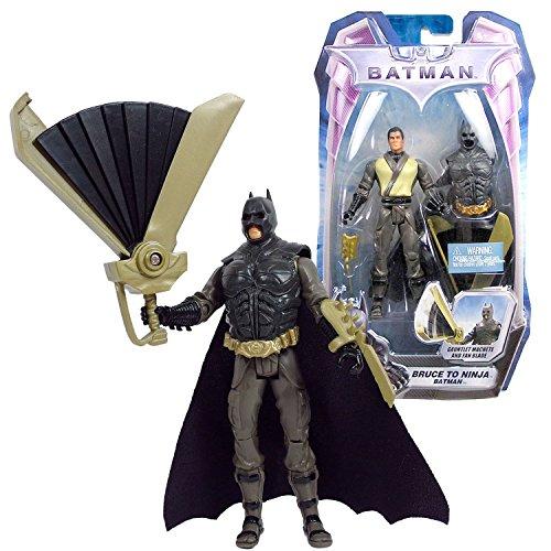 Mattel Year 2008 DC Comics The Dark Knight Series 5 Inch Tall Action Figure - BRUCE TO NINJA BATMAN (P4474) with Removable Batman Costume, Gauntlet Machete and Fan Blade
