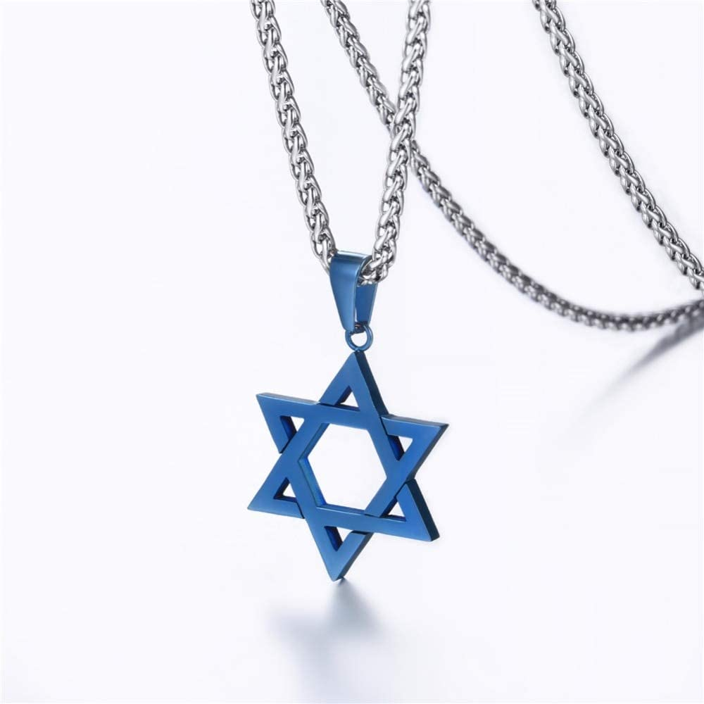 Mens necklace Jewish Magen Star Of David Necklace Men//Women Bat Mitzvah Gift Israel Judaica Hebrew Jewelry Hanukkah Pendant Gold Color P723