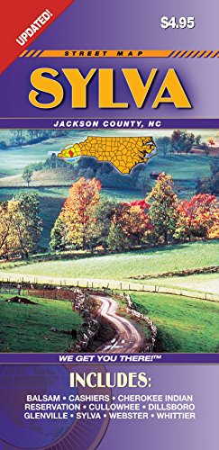 Maps County Nc Road - Sylva/Jackson County NC Fold Map