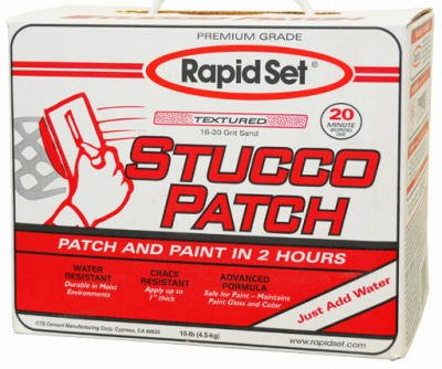 (CTS CEMENT MANUFACTURING S10-RDC09 10LB Stucco Patch, 48 g)