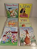 * Little Golden Books- The Adventures of Goat, Walt Disney's Lady, Donald Duck's Toy Sailboat, Lily Pig's Book of Colors, Home for a Bunny, Tiny Toon Adventures Lost in the Fun House, Benji Fastest Dog in the West, and the Store Bought Doll