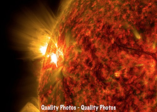 Solar Flare Erupting from the Sun Photo Print Plasma, Space Solar System Weather Art