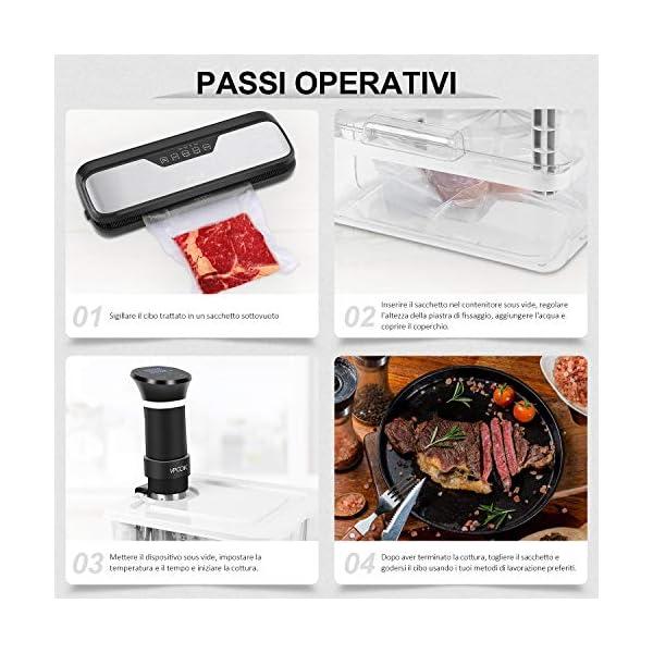 VPCOK 7 in 1 Sous Vide Contenitore Set 12L con Coperchio Roner Cucina Professionale Compatibile Tutte Marche ANOVA, ECC… 7