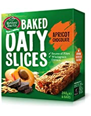 Mother Earth Baked Oaty Slice Apricot and Chocolate, 240 g