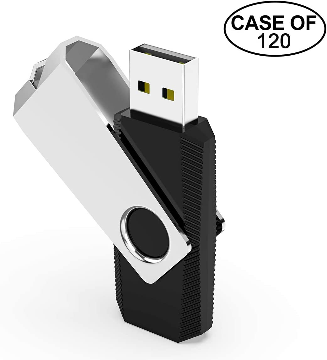 TOPESEL 128MB USB 2.0 Flash Drives Bulk Pack USB Memory Stick Data Storage Thumb Drive Zip Drive,Black,128 MB Case of 80