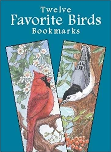 twelve favorite birds bookmarks dover bookmarks