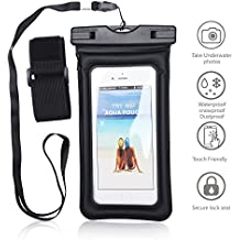 Universal Waterproof Phone Case,IPX8 Waterproof Phone Pouch Dry Bag for iPhone X/8/8plus/7/7plus/6s/6s plus Samsung galaxy S9/S9P/S8/S8P/S7 Note 8 Google Pixel 2 HTC LG Sony MOTO up to 6.0""