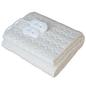 Couverture chauffante électrique matrimonial avec double régulateur de  température 160x140 thermique chauffage chauffe-matelas douce 6b77e024a545