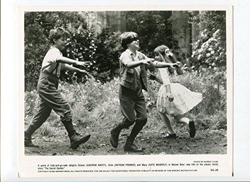 MOVIE PHOTO: Secret Garden-Andrew Knott, Heydon Prowse, and Kate Maberly-8x10-B&W-Still (Knott Garden)