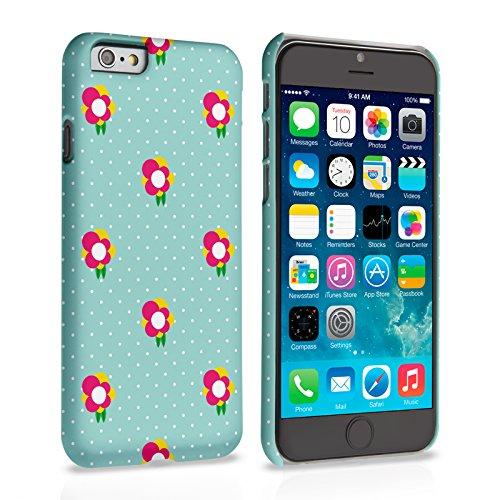 Caseflex iPhone 6 Plus / 6S Plus Hülle Grün / Rosa Delikat Tupfel Und Blumen Hart Schutzhülle (Kompatibel Mit iPhone 6 Plus / 6S Plus - 5.5 Zoll)