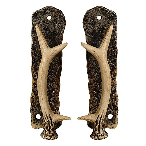 Metal Antler Lodge Door Pulls - Set of 2 - Wilderness Decor