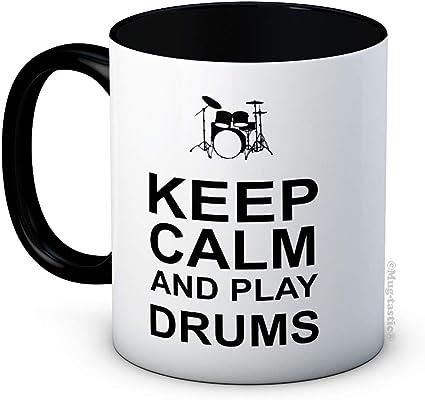 Drummer Funny High Quality Ceramic Coffee Tea Mug Keep Calm and Play Drums