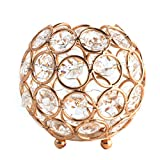 iEFiEL Crystal Bowl Tea Light Candle Holder for Home Wedding Centerpieces Decor Gold One Size