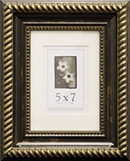 product image for Frame USA Napolean Series 5x7 Accented Composite Wood Frames (Antique Black and Gold)