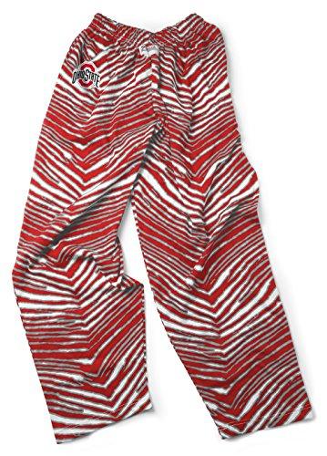 NCAA Ohio State Buckeyes Men's Zubaz Zebra Print Team Logo Casual Active Pants, Large, (Ncaa Prints Shop)