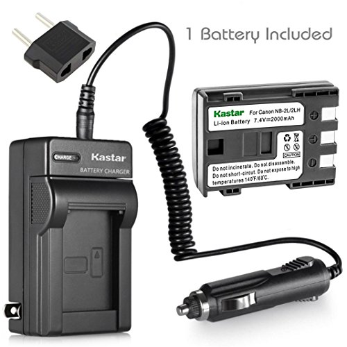 Kastar NB-2L NB-2LH Battery and Charger Kit Replacement for Canon VIXIA HF R10, VIXIA HF R11, VIXIA HF R100, VIXIA HV20, VIXIA HV30, VIXIA HV40, LEGRIA HF R16, LEGRIA HF R18, LEGRIA HF R106 Camera