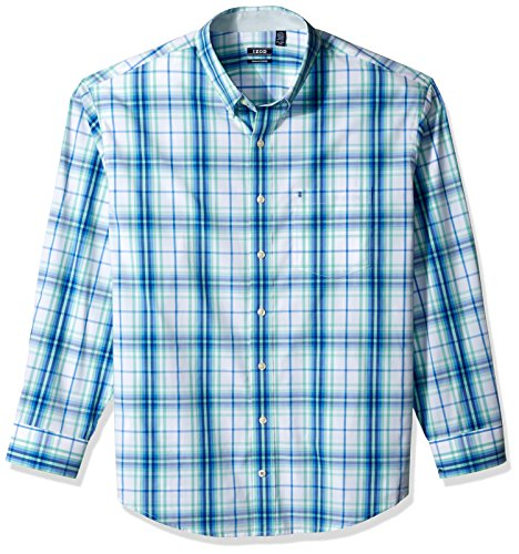 Check Big Flannel (IZOD Men's Tall Essential Check Long Sleeve Shirt (Slim), Dusty Jade, 2X-Large Big)