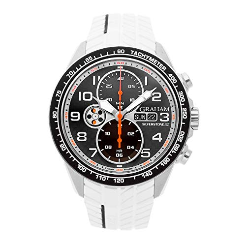 Graham Silverstone RS Racing SS Auto 46mm Mens Watch Strap 2STEA.B12A.K108F (Certified Pre-Owned) (Chronograph Tachymeter Watch Gents)