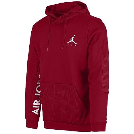 Nike Jumpman Hybrid PO Sudadera, Hombre, Gym Red/White, XX-Large