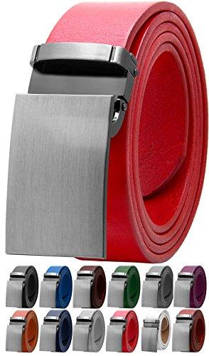 Falari Men's Dress Belt Jeans Belt Full Grain Leather Variety Colors 9026