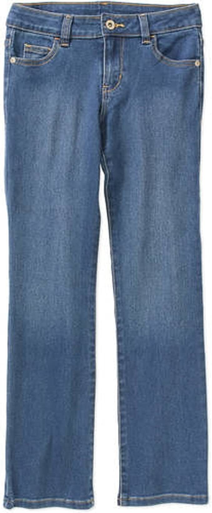 many youth sizes New Girls FADED GLORY flare adjustable JEANS hearts Love