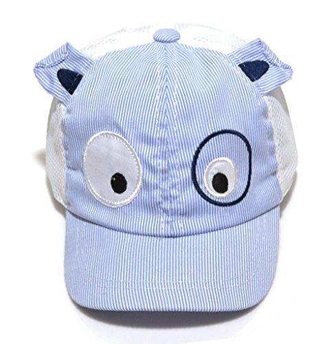 LOKIDVE Adjustable Toddler Summer Hat Kids Mesh Baseball Cap -Blue
