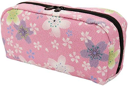 [해외]동네 아이 화 잡화 와이드 파우치 賑 체리 핑크 / Yu-I Japanese sundries horizontal pouch Nigiwai Sakura Pink