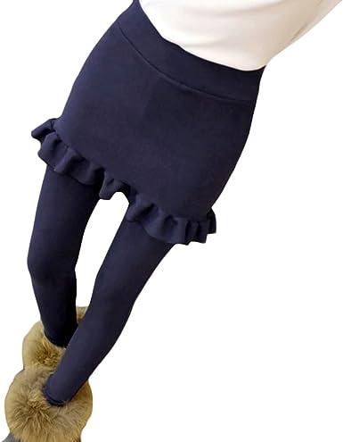 Locomo Color Plano Conectado a la Falda Falda Volantes Pantalones ...