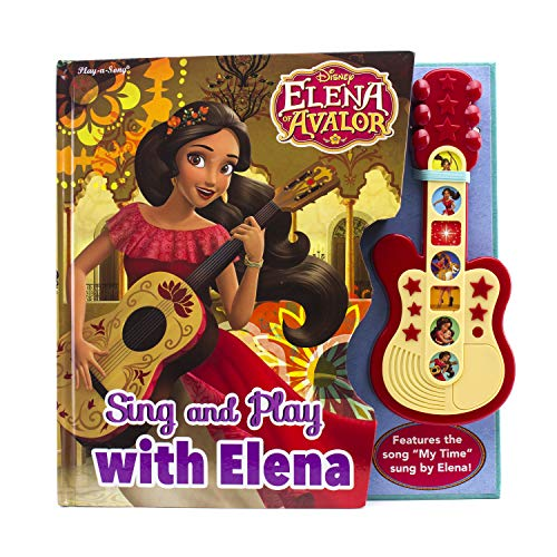 Disney - Elena of Avalor - Sing and Play with Elena! Board Book with Toy Guitar - PI Kids