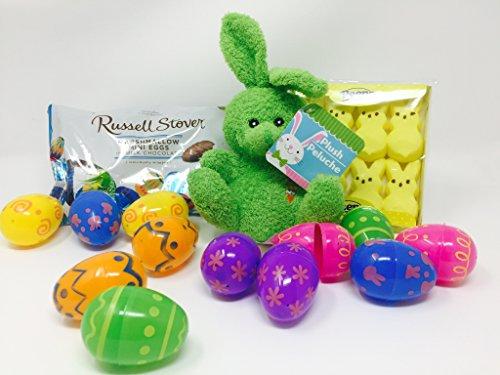 Easter Egg Basket Filler Bundle - 4 Items with 12 Printed Pl