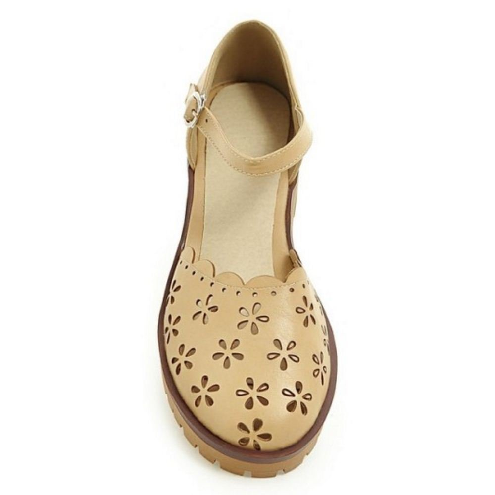 Zanpa (sole Girls Flats Sandals Sweet B07BVWX8Z3 8 US (sole Zanpa length 25 CM)|Ivory b2c84d