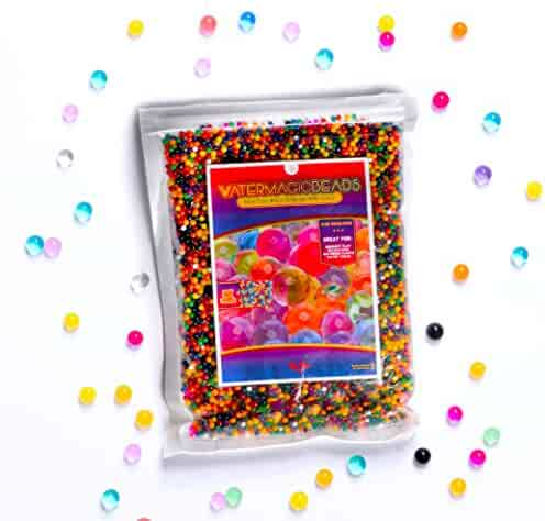 20,000 Rainbow Colored Magic Water Bead Mix, Orbeez Spa Refill, Sensory Tactile Toy, Vase Filler & Party Decoration by Big Mo's Toys