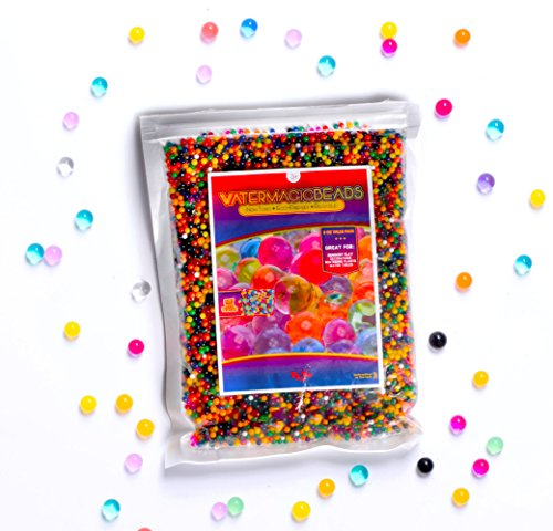 Big Mo's Toys Water Beads - Colorful Floral Gel Pearl Balls for Vase, SPD Or Sensory Exploration