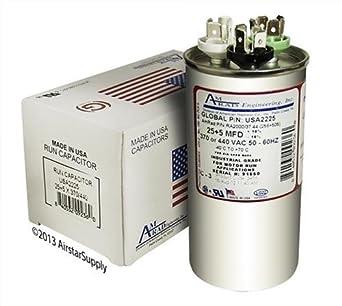 Goodman Replacement 40//7.5 uf MFD x 440 VAC # 97F9882 Genteq GE Dual Capacitor
